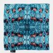 Autistic Art Aqua hernyóselyem díszzsebkendő 30x30 cm