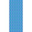 Autistic Art Azur hernyóselyem sál 140x60 cm