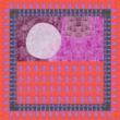 Autistic Art Huts hernyóselyem sál 70x70 cm