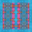 Autistic Art Jazz hernyóselyem sál 70x70 cm