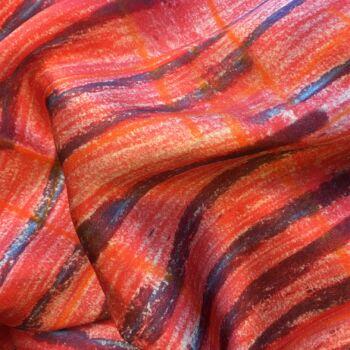 Autistic Art Stripes Selyemkendő 55x55 cm