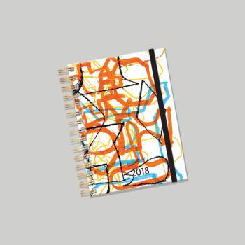 Lizzy Card Orange spirálos heti tervező naptár 176x250 mm