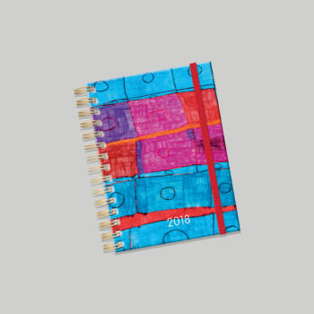 Lizzy Card Jazz spirálos heti tervező naptár 176x250 mm