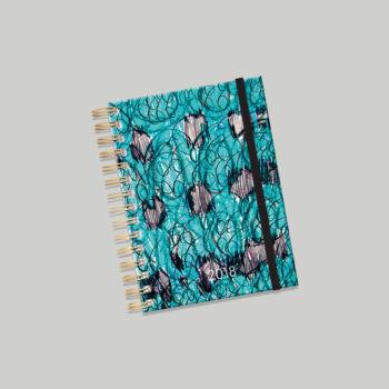 Lizzy Card Aqua spirálos heti tervező naptár 176x250 mm