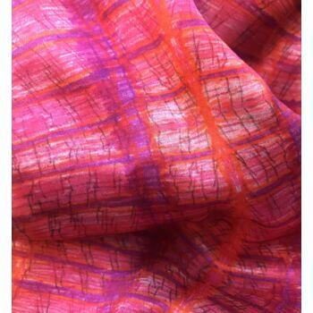 Autistic Art Sunset hernyóselyem sál 70x70 cm