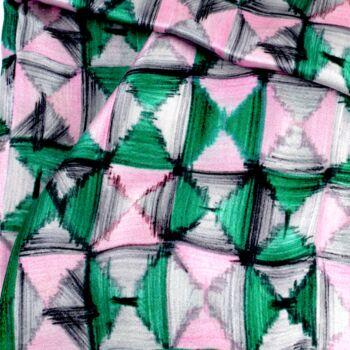 Autistic Art Mosaic Selyemkendő 55x55 cm