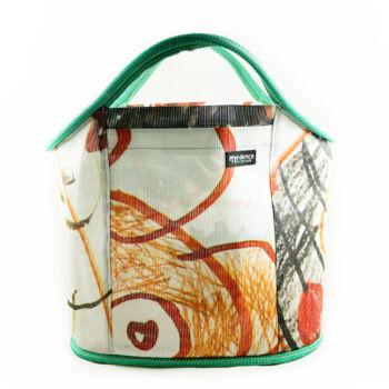 Shopping Bag zöld cica