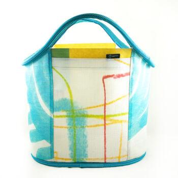 Shopping Bag citrom-fehér