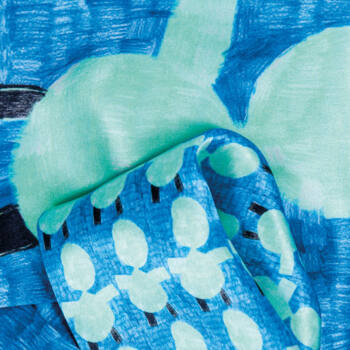 Autistic Art Bluemen hernyóselyem díszzsebkendő 30x30 cm