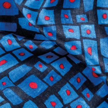 Autistic Art Cubes hernyóselyem sál 70x70 cm