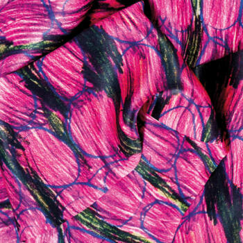 Autistic Art Flow hernyóselyem díszzsebkendő 30x30 cm