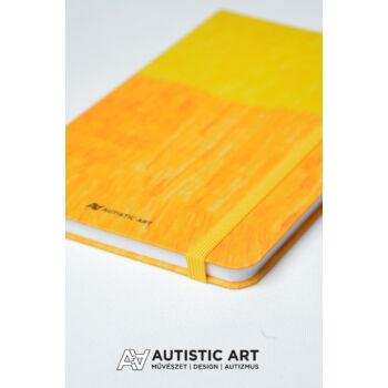 Autistic Art Yellow exkluzív notesz 13x20 cm