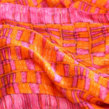 Autistic Art Pink hernyóselyem sál 140x60 cm