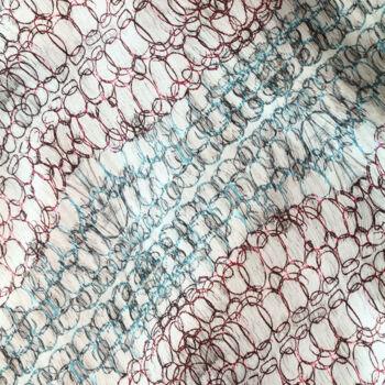 Autistic Art Rings hernyóselyem sál 140x60 cm
