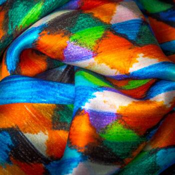 Autistic Art Spark hernyóselyem sál 140x60 cm