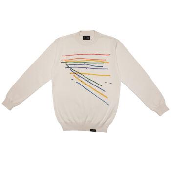 Kele for Autistic Art uniszex kötött pulóver - RAINBOW
