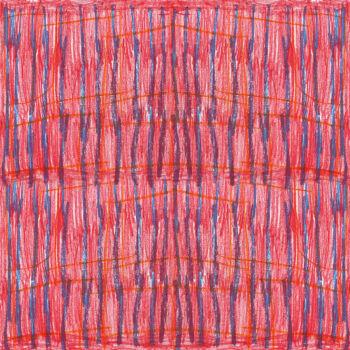 Autistic Art Stripes hernyóselyem díszzsebkendő 30x30 cm
