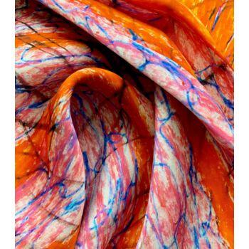 Autistic Art Orange hernyóselyem sál 140 x 70 cm