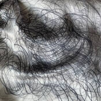 Autistic Art Silver hernyóselyem sál 140 x 70 cm